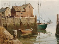 motif no.1, a rockport harbor view by marshall w. joyce