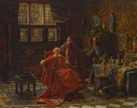der kunsthändler beim kardinal by max gaisser