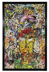 woman and bicycle, after willem de kooning (from pictures of magazines 2) by vik muniz