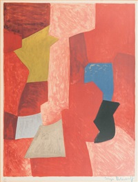 composition rouge, jaune et bleue by serge poliakoff