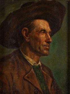 retrato de campesino by joaquín agrasot y juan