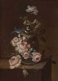 stillleben mit rosen by gertrude metz