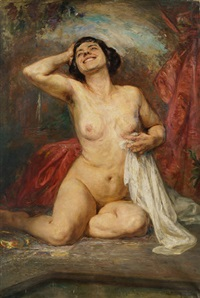 seated female nude by gonzalo bilbao martínez