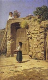 fanciulli nel cortile, 1886 by simone campanile