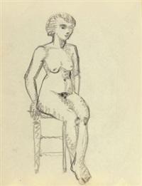 weibliche akte mit hocker (2 works) by heinrich kirchner
