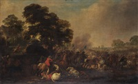 cavalry battle by philips wouwerman