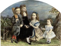 portrait of four children by jane sophia clarendon smith