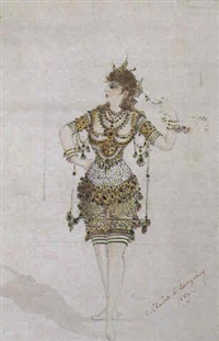 costume designs for aladdin by samuel-marie cledat de lavignerie