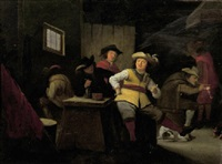 officers smoking in a guardroom by adriaen lucasz fonteyn