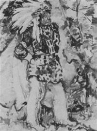 stehender indianer by willy semm