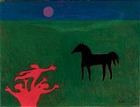 horse in a field by jan roëde