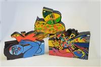 ensemble de 3 sculptures (3 works) by corneille