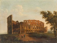 rome, a view of the colosseum by hendrick frans van lint
