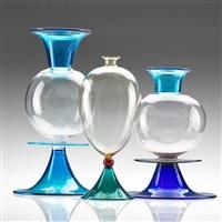 venetian vases (3 works) by yoichi ohira