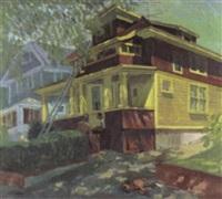 brown & yellow house by joseph l. lasker