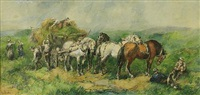 harvest time (set of 5) by harden sidney melville