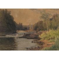 fishing in the rapids by georgina m. de l' aubiniere