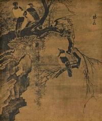 古木寒鸦 by lin liang