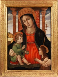 maria mit dem jesuskind, das den johnnesknaben segnet by anonymous-italian (15)
