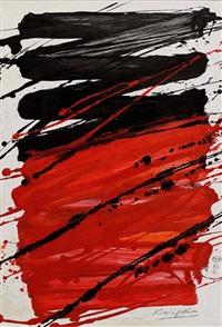 komposition in schwarz und rot by jürgen reipka
