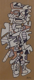 personnage p 360 by jean dubuffet