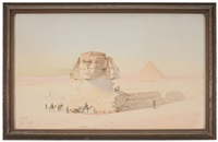 the great sphinx and pyramid of giza by spyridon scarvelli