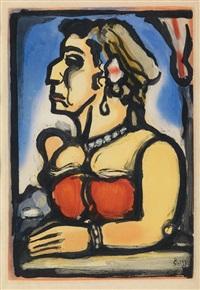 madame carmencita by georges rouault
