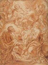 heilige familie mit gottvater in der glorie by johann evangelist holzer
