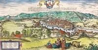 bilbao, vista de la ciudad a mediados del s.xvi by franz hogenberg
