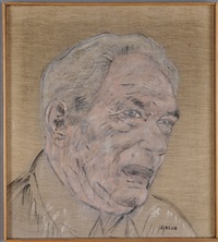 portrait of a man by leon golub