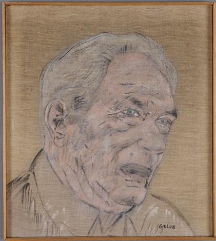 portrait of a man by leon golub