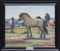 hästar i hage by stan gustaf herman ankarcrona