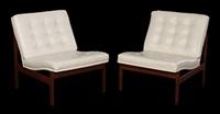 lounge chairs (pair) by ole gjerlov-knudsen & torben lind