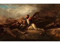der verwundete soldat an der kanone by albrecht adam
