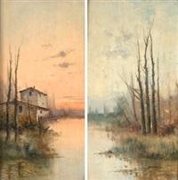 paisajes (pair) by manuel ramos artal