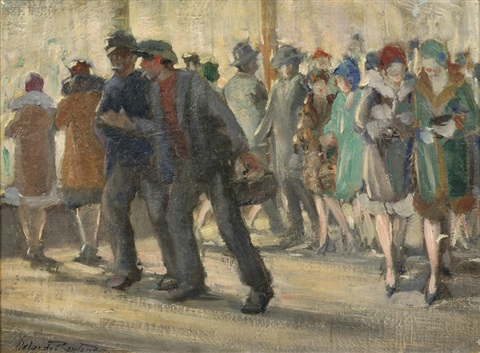 passersby on the street by orlando rouland