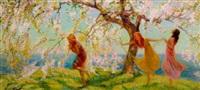 spring maidens by bertha menzler peyton