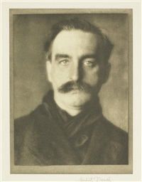 portrait of herbert trench (1865-1923, irish poet) by alvin langdon coburn
