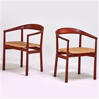 pair of armchairs, sweden by carl-axel acking