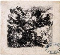 ziegen- und hundeköpfe by friedrich (maler müller) müller