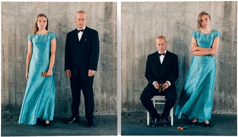 wedding portraits diptych by elina brotherus