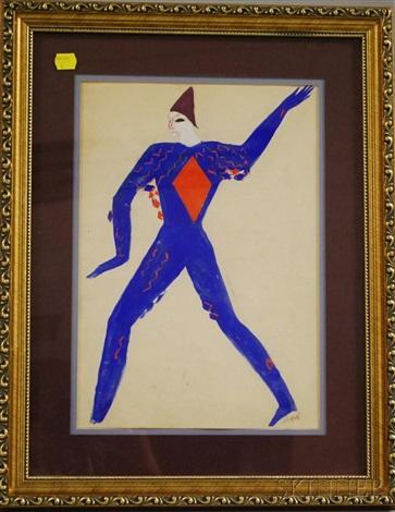 costume design blue harlequin by alexis paul arapov