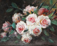 buisson de roses by frans mortelmans