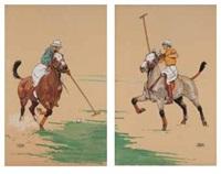 les joueurs de polo (pair) by etienne le rallic