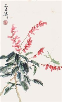 螳螂花卉 by wang xuetao