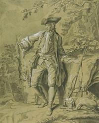 bildnis eines herrn mit seiner jagdbeute by johann erdmann hummel