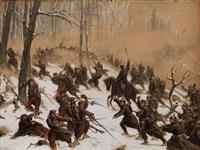 winterliche kriegsszene aus dem krieg by christian sell the elder
