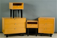 primavera bedroom furniture set (4 works) by george nelson