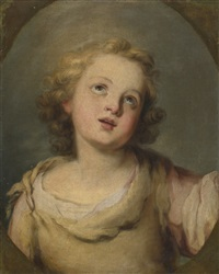 head of the infant christ by bartolomé esteban murillo