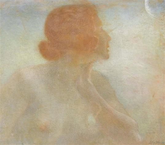 femme et la lune by lucien lévy dhurmer